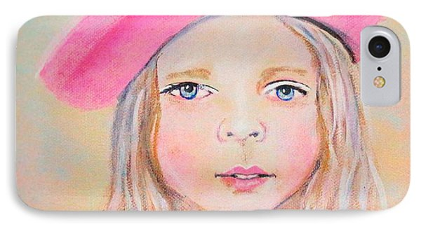 Fayanna Little French Angel Of Trust Phone Case by The Art With A Heart By Charlotte Phillips