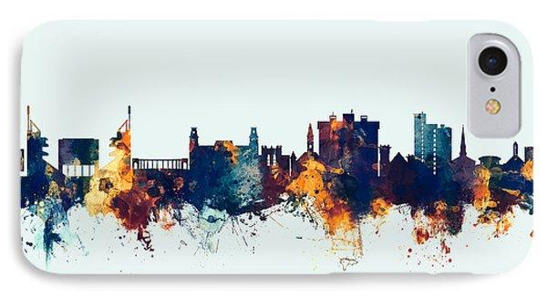 IPhone Case featuring the digital art Fayetteville Arkansas Skyline by Michael Tompsett