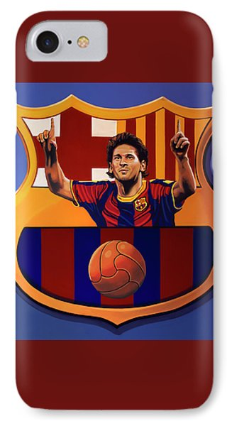 Fc Barcelona Painting IPhone Case by Paul Meijering
