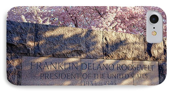 Fdr Memorial Marker In Washington D.c. IPhone Case by Olivier Le Queinec