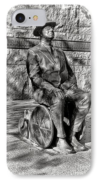 Fdr Memorial Sculpture In Wheelchair IPhone Case