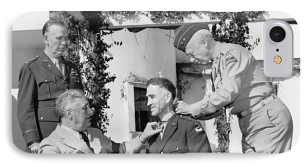 Fdr Presenting Medal Of Honor To William Wilbur IPhone Case by War Is Hell Store