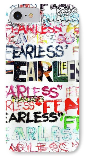IPhone Case featuring the mixed media Fearless by Carolyn Weltman