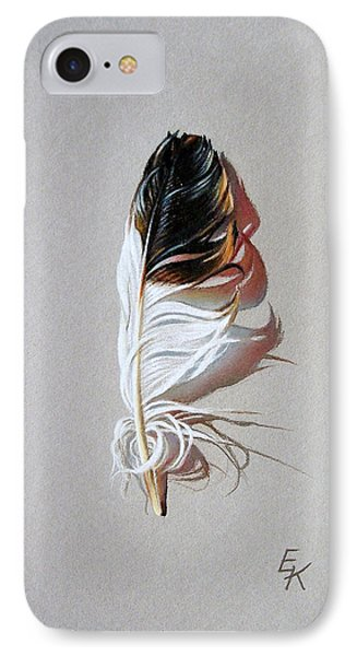 Feather And Shadow 3 IPhone Case by Elena Kolotusha
