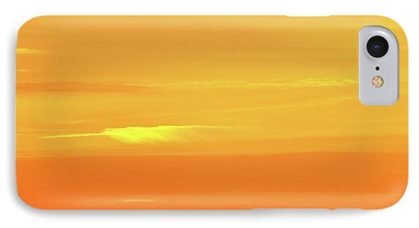 Feather Cloud In An Orange Sky  IPhone Case
