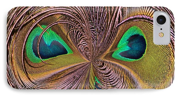Feather Eyes Orb IPhone Case by Marv Vandehey