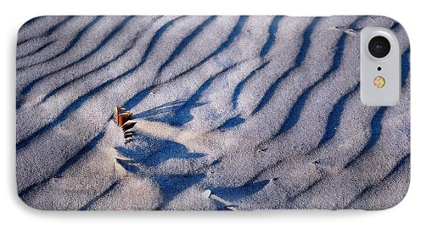 IPhone Case featuring the photograph Feather In Sand by Michelle Calkins