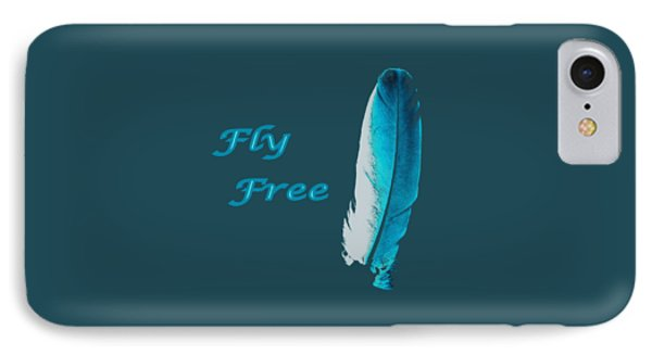 Feather Of Free Flight IPhone Case by Aliceann Carlton