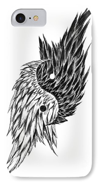 Feathered Ying Yang  Phone Case by Peter Piatt