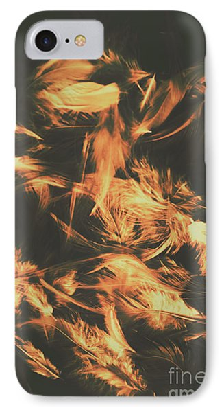 Feathers And Darkness IPhone Case