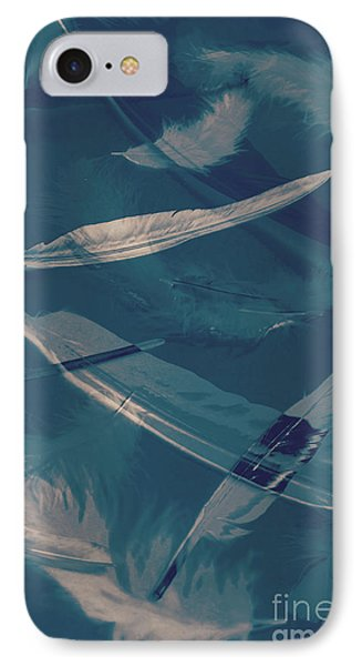 Feathers Floating In The Air IPhone Case