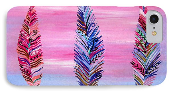 Feathers II IPhone Case by Cathy Jacobs