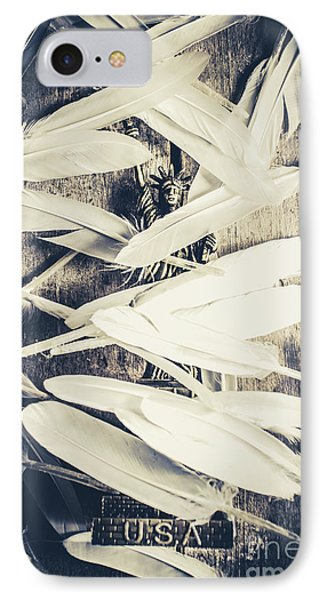 Feathers Of Freedom And The Statue Of Liberty IPhone Case by Jorgo Photography - Wall Art Gallery