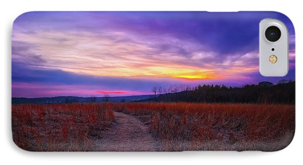 February Sunset And Path At Retzer Nature Center IPhone Case by Jennifer Rondinelli Reilly - Fine Art Photography