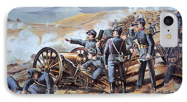 Federal Field Artillery In Action During The American Civil War  Phone Case by American School