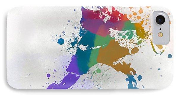 Federer Paint Splatter IPhone Case