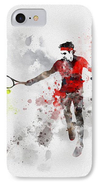 Federer IPhone Case by Rebecca Jenkins