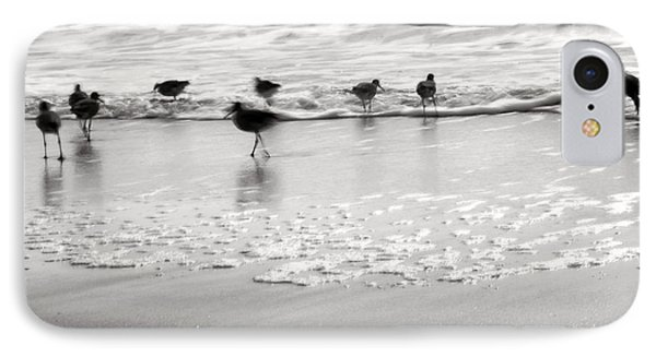 Plundering Plover Series In Black And White IPhone Case by Angela Rath