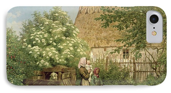 Feeding The Chickens IPhone Case by Frederick Christian Lund