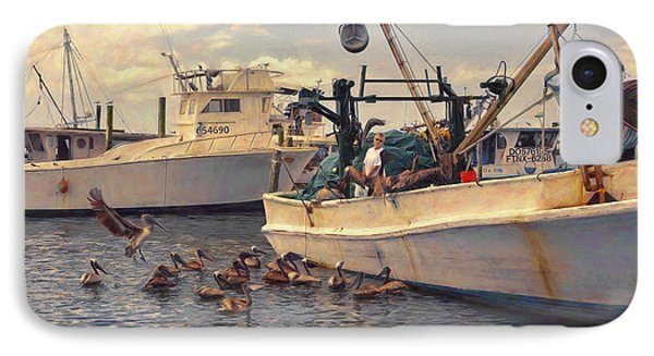 Feeding The Pelicans IPhone Case by Glenn Gemmell
