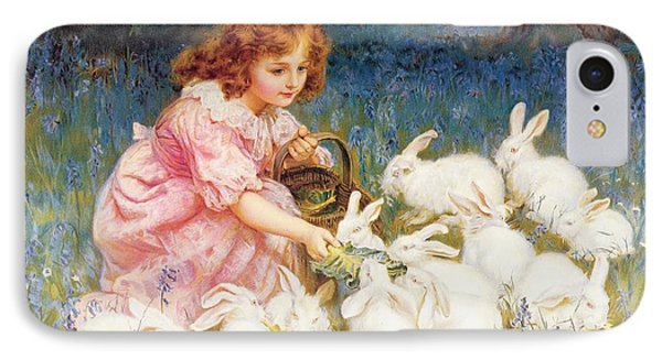 Feeding The Rabbits IPhone 7 Case by Frederick Morgan