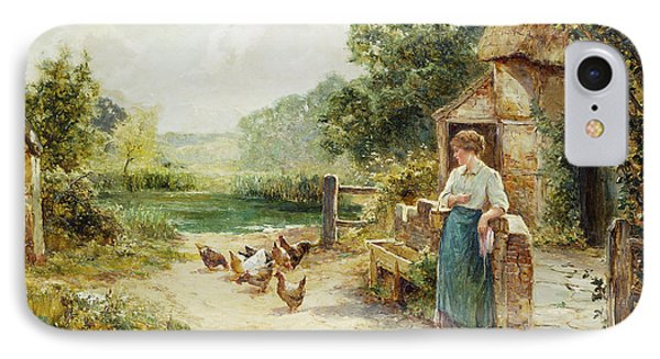 Feeding Time IPhone 7 Case by Ernest Walbourn