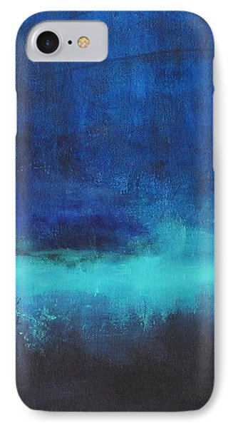 IPhone Case featuring the painting Feeling Blue by Nicole Nadeau