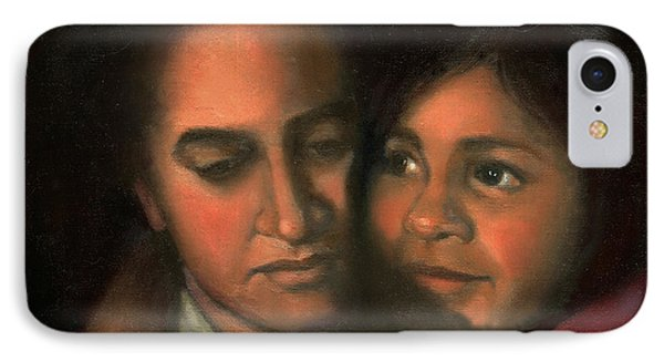 IPhone Case featuring the painting Felicia And Kira by Marlene Book