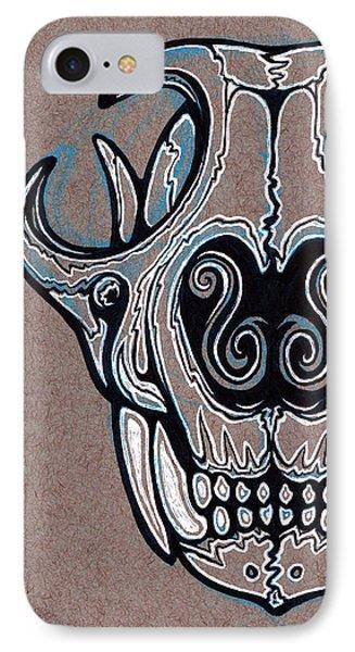 Feline Skull IPhone Case by Franki Zinke