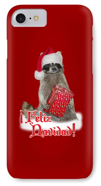 Feliz Navidad - Raccoon IPhone Case by Gravityx9  Designs