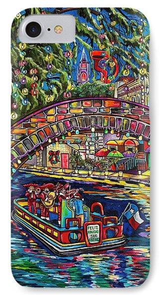 Feliz Navidad San Antonio IPhone Case by Patti Schermerhorn
