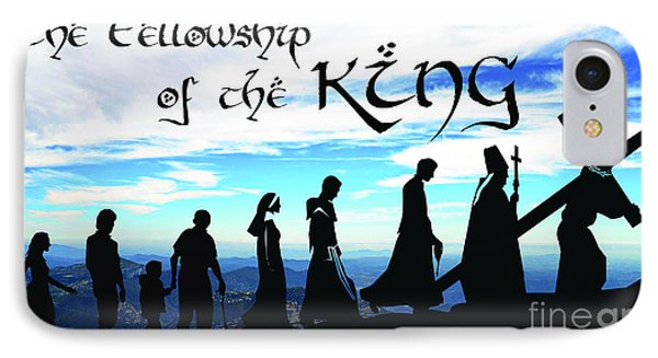 Fellowship Of The King IPhone Case by Sharon Soberon