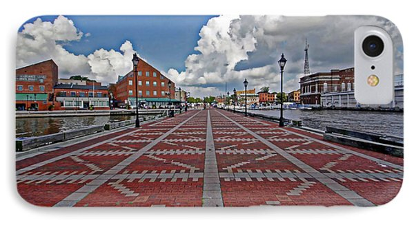 IPhone Case featuring the photograph Fells Point Pier by Suzanne Stout