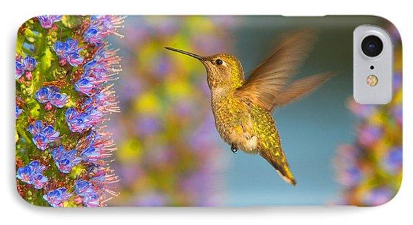 IPhone Case featuring the photograph Female Anna's Hummingbird Huntington Beach California by Ram Vasudev