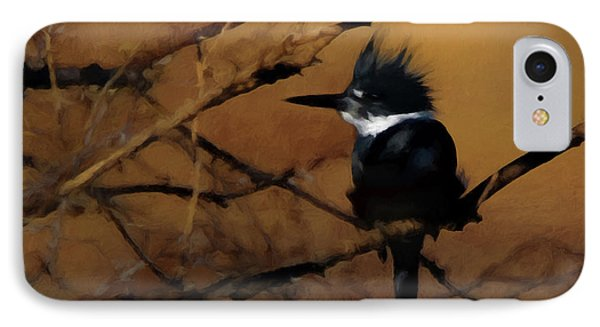 IPhone Case featuring the digital art Female Belted Kingfisher 2 by Ernie Echols