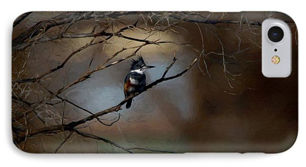 IPhone Case featuring the digital art Female Belted Kingfisher 3 by Ernie Echols