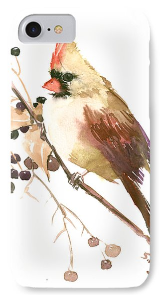 Female Cardinal Bird IPhone Case