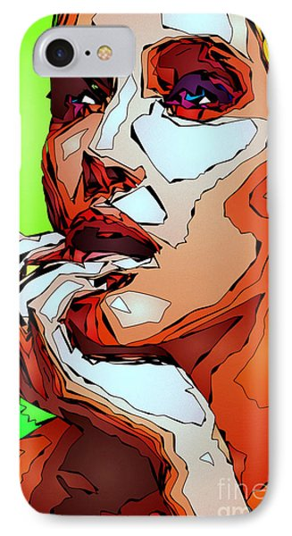 Female Expressions IPhone Case by Rafael Salazar