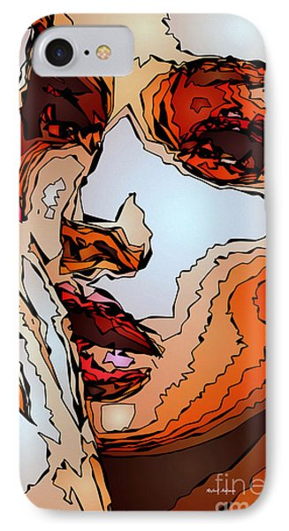Female Expressions Viii IPhone Case by Rafael Salazar
