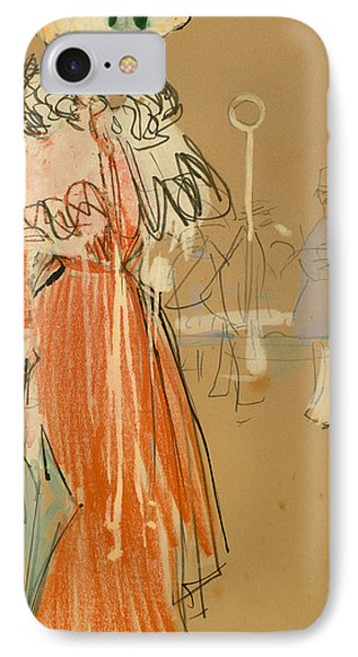 Female Figure In Red IPhone Case by Mountain Dreams
