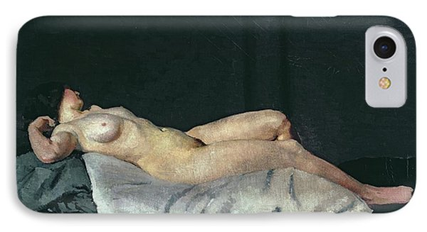 Female Figure Lying On Her Back IPhone Case by Dora Carrington