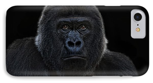 Female Gorilla IPhone Case by Joachim G Pinkawa