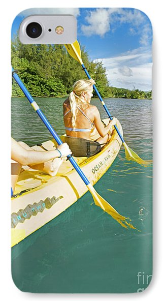 Female Kayakers Phone Case by Kicka Witte - Printscapes