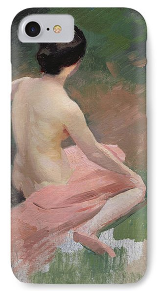 Female Nude IPhone Case by Jules Ernest Renoux