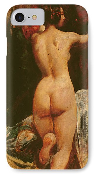 Female Nude Seen From The Back IPhone Case