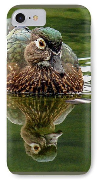 IPhone Case featuring the photograph Female Wood Duck by Jean Noren