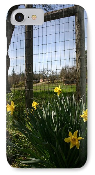 IPhone Case featuring the photograph Fence With A View by Marie Neder