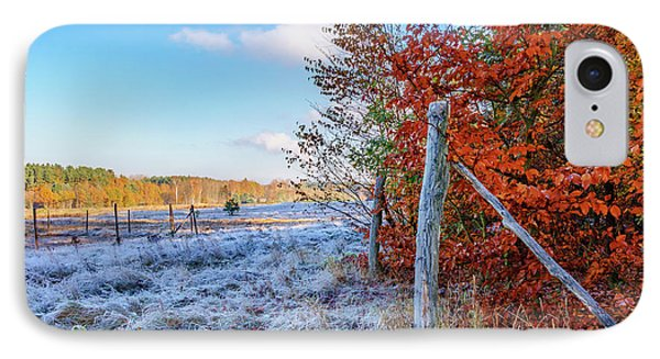 IPhone Case featuring the photograph Fenced Autumn by Dmytro Korol