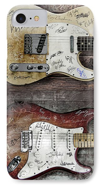 Fender Guitars Fantasy IPhone Case by Mal Bray