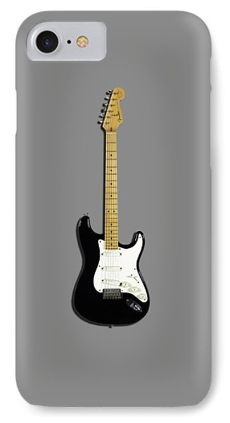 Fender Stratocaster Blackie 77 IPhone 7 Case by Mark Rogan